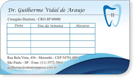 Cartão de Retorno Slice ORTODONTIA - Ref. 3686