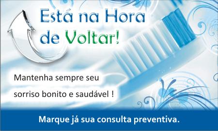 Cartão Chamada para Prevenção - Ref. 1398  - Odonto Impress