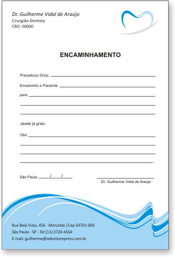 Bloco Encaminhamento Paciente - Ref. 0687