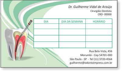 Cartão de Retorno ENDODONTIA - Ref. 2093