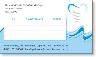 Cartão de Retorno IMPLANTODONTIA - Ref. 2059
