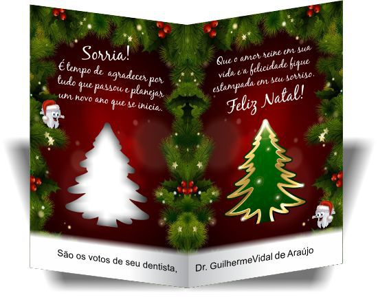 Cartão de Natal CORTE ESPECIAL - Ref. 1750  - Odonto Impress