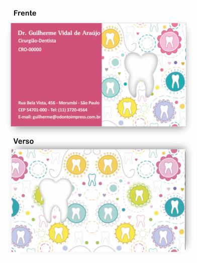 Cartão de Visita Corte Especial - Ref. 3800  - Odonto Impress
