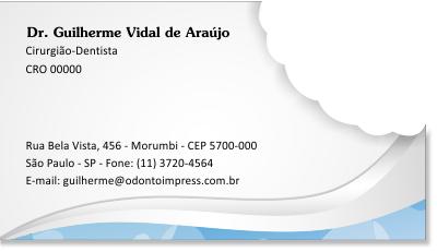 Cartão de Visita Corte Especial - Ref. 3802  - Odonto Impress