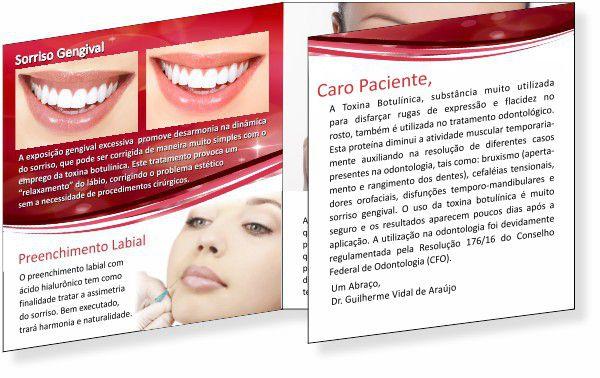 Folder de Toxina Botulínica e Preenchimento - Ref. 2095  - Odonto Impress