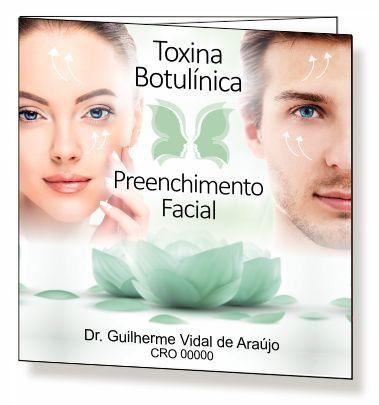 Folder de Toxina Botulínica e Preenchimento - Ref. 2099  - Odonto Impress