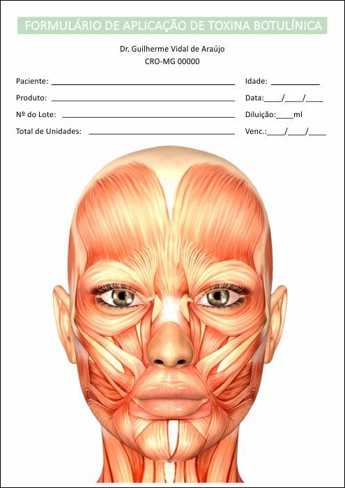 Formulário de Aplicação Toxina Botulínica + Termo de Consentimento - Ref 2102  - Odonto Impress