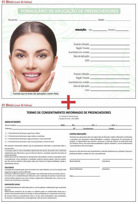Formulário de Aplicação Preenchedores + Termo de Consentimento - Ref 2106