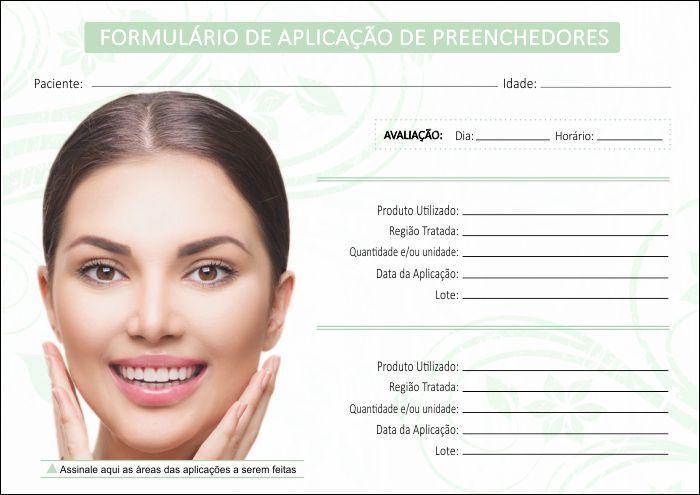 Formulário de Aplicação Preenchedores + Termo de Consentimento - Ref 2106  - Odonto Impress