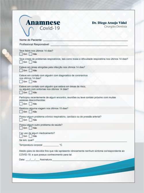 Anamnese COVID-19 - Ref. 2000