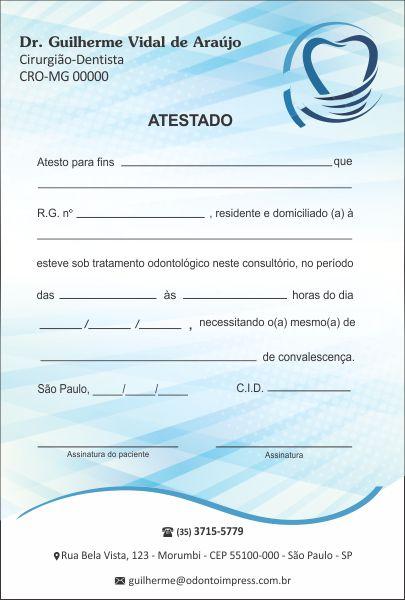 Atestado IMPLANTODONTIA - Ref. 1056  - Odonto Impress
