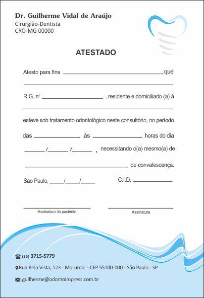 Atestado IMPLANTODONTIA - Ref. 1058  - Odonto Impress