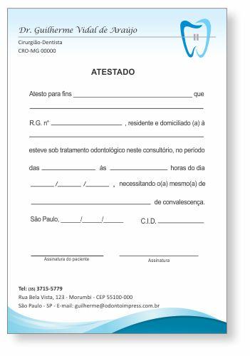 Atestado ORTODONTIA - Ref. 1068  - Odonto Impress