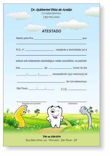 Atestado PEDIATRIA - Ref. 1032