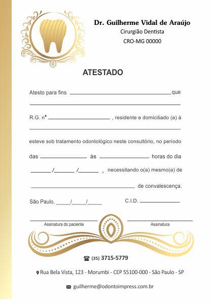 ATESTADO - REF. 0716  - Odonto Impress