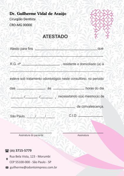 ATESTADO - REF. 0770  - Odonto Impress