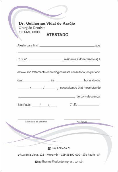 Atestado - Ref. 0786  - Odonto Impress