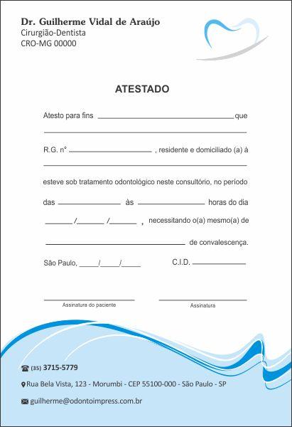 Atestado - Ref. 0787  - Odonto Impress