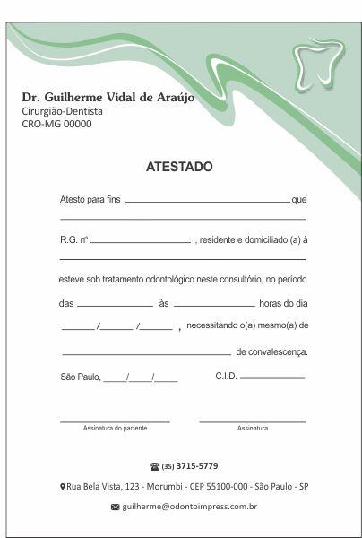 Atestado - Ref. 0789  - Odonto Impress