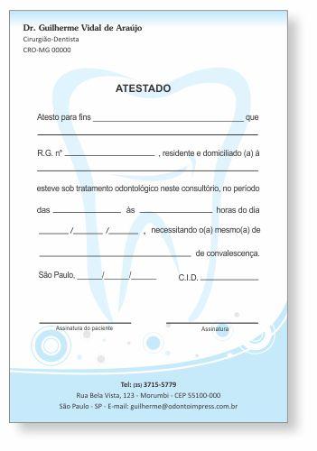 Atestado - Ref. 0796  - Odonto Impress