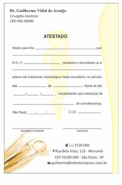Atestado - Ref. 1004  - Odonto Impress