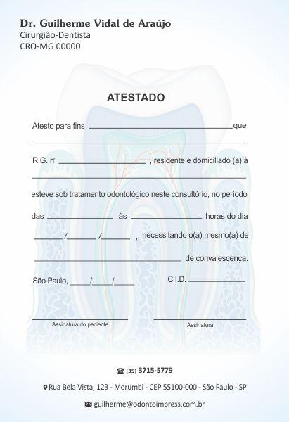 Atestado - Ref. 1051  - Odonto Impress