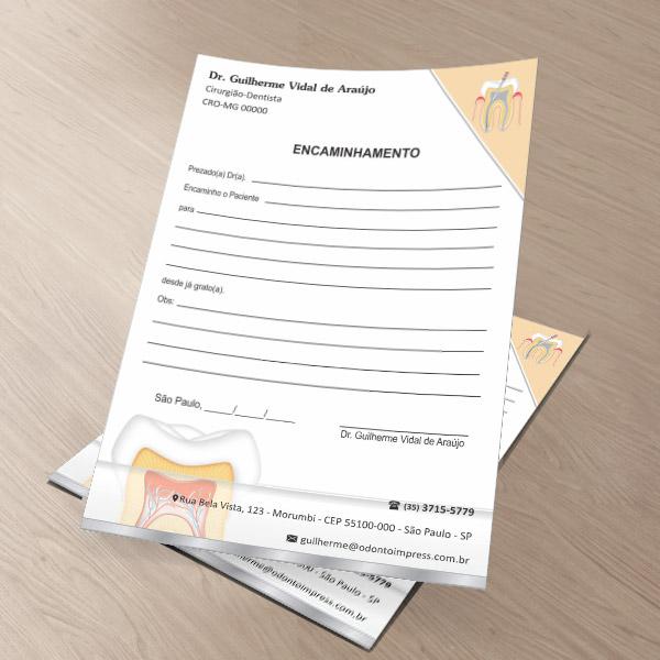 Bloco Encaminhamento Paciente ENDODONTIA - Ref. 3452  - Odonto Impress