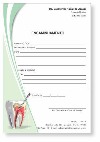 Bloco Encaminhamento Paciente ENDODONTIA - Ref. 3453  - Odonto Impress