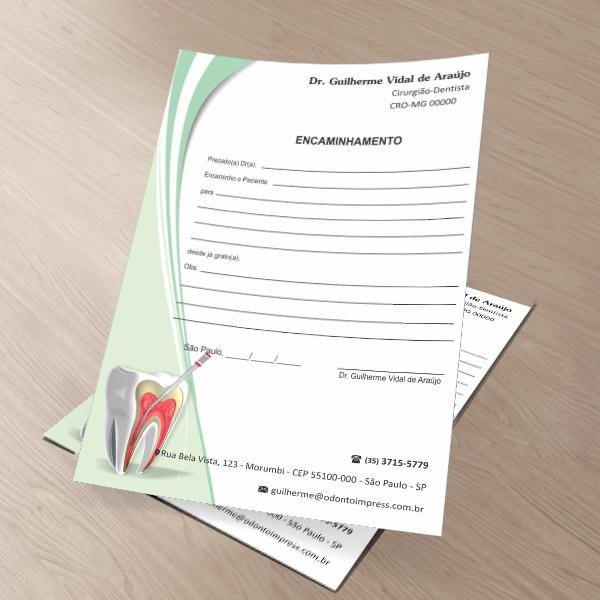 Bloco Encaminhamento Paciente ENDODONTIA - Ref. 3453