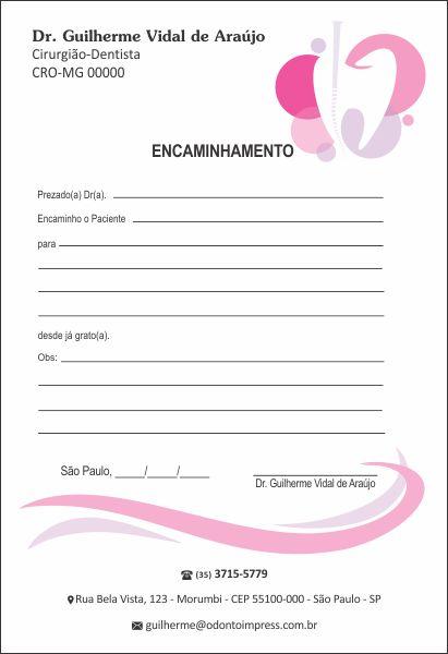 Bloco Encaminhamento Paciente ENDODONTIA - Ref. 3454  - Odonto Impress