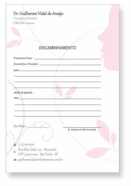 BLOCO ENCAMINHAMENTO PACIENTE - HOF - REF. 0677