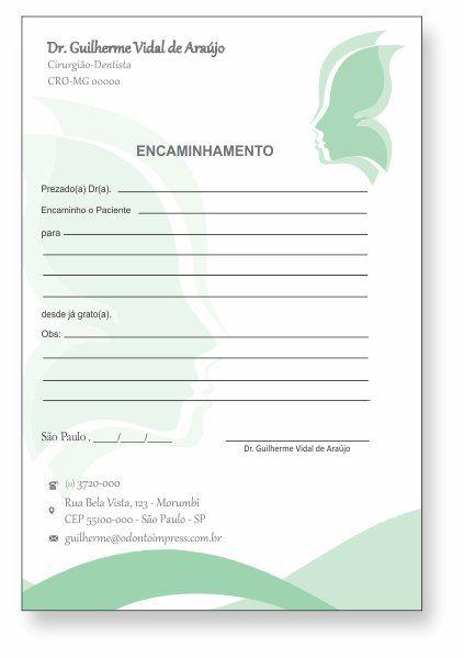BLOCO ENCAMINHAMENTO PACIENTE - HOF - REF. 0678