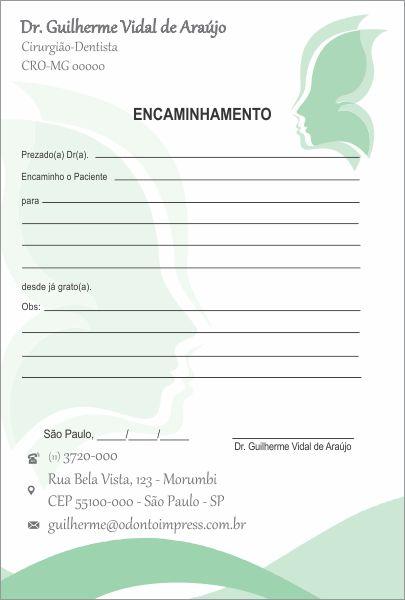 BLOCO ENCAMINHAMENTO PACIENTE - HOF - REF. 0678  - Odonto Impress
