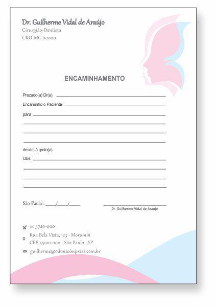 BLOCO ENCAMINHAMENTO PACIENTE - HOF - REF. 0679