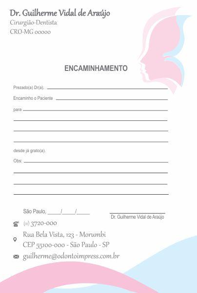 BLOCO ENCAMINHAMENTO PACIENTE - HOF - REF. 0679  - Odonto Impress