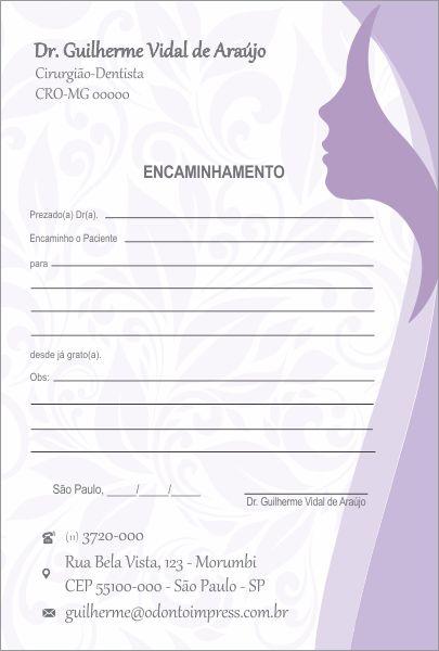 BLOCO ENCAMINHAMENTO PACIENTE - HOF - REF. 0681  - Odonto Impress