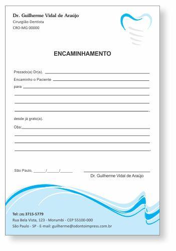 Bloco Encaminhamento Paciente IMPLANTODONTIA - Ref. 3458