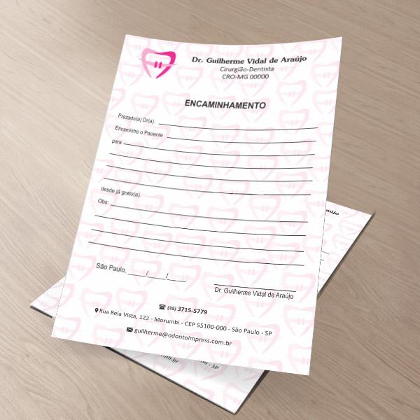 Bloco Encaminhamento Paciente ORTODONTIA - Ref. 3465