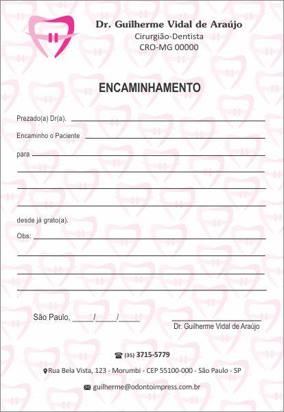 Bloco Encaminhamento Paciente ORTODONTIA - Ref. 3465  - Odonto Impress