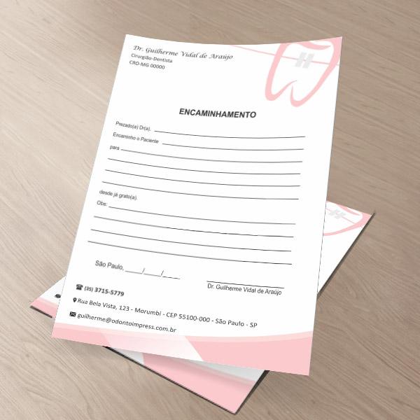 Bloco Encaminhamento Paciente ORTODONTIA - Ref. 3469  - Odonto Impress