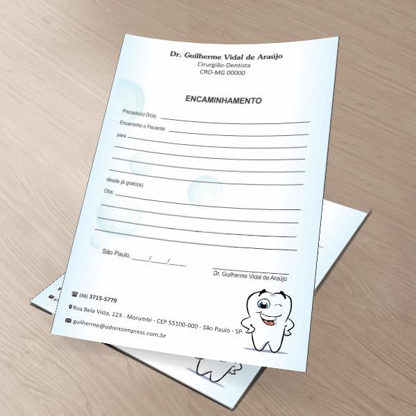 Bloco Encaminhamento Paciente PEDIATRIA - Ref. 3431