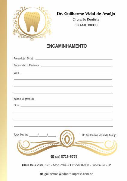 BLOCO ENCAMINHAMENTO PACIENTE - REF. 0616  - Odonto Impress