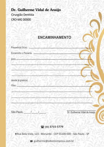 BLOCO ENCAMINHAMENTO PACIENTE - REF. 0617  - Odonto Impress