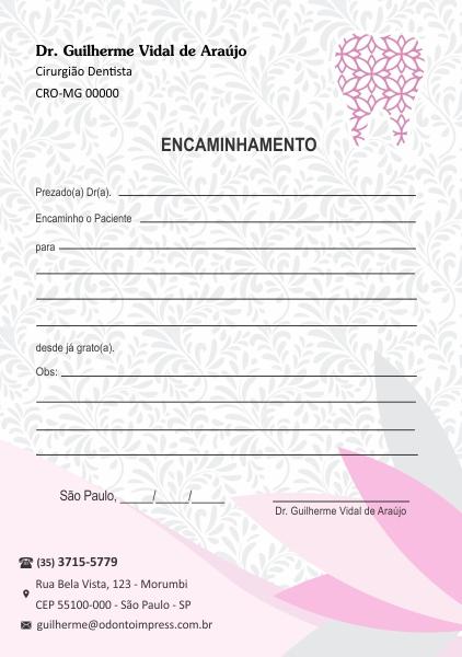 BLOCO ENCAMINHAMENTO PACIENTE - REF. 0670  - Odonto Impress