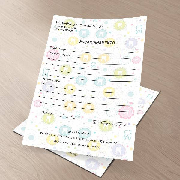 Bloco Encaminhamento Paciente - Ref. 0683