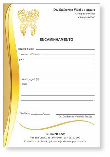 Bloco Encaminhamento Paciente - Ref. 0684