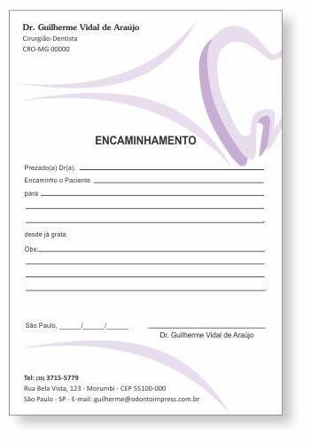 Bloco Encaminhamento Paciente - Ref. 0688