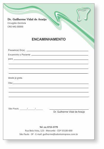 Bloco Encaminhamento Paciente - Ref. 0689