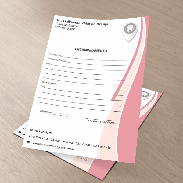Bloco Encaminhamento Paciente - Ref. 0690