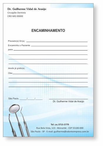 Bloco Encaminhamento Paciente - Ref. 0693